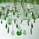 Фото №2 Люстра с цветным хрусталем 3125/5 хром/зелёный Strotskis
