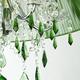 Фото №5 Люстра с цветным хрусталем 3125/5 хром/зелёный Strotskis