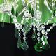 Фото №11 Люстра с цветным хрусталем 3125/5 хром/зелёный Strotskis