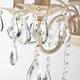 Фото №7 Люстра с хрусталем 10054/5 белый с золотом