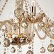 Фото №3 Люстра с тонированным хрусталем 10052/8 золото