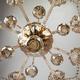 Фото №10 Люстра с тонированным хрусталем 10052/8 золото