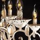 Фото №5 Люстра подвесная 10009/12 белый с золотом