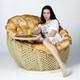 """Фото №2 Кресло полиамидное """"Омега"""" (столик)"""