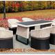 Фото №2 Обеденный комплект мебели из ротанга CROCODILE-202140