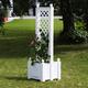 Фото №2 Маленький ящик для растений с центральной шпалерой 37401