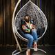 Фото №21 Подвесное кресло-кокон SEVILLA белое + каркас