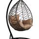 Фото №4 Подвесное кресло-кокон ALICANTE коричневое + каркас