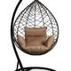 Фото №5 Подвесное кресло-кокон ALICANTE коричневое + каркас