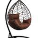 Фото №6 Подвесное кресло-кокон ALICANTE коричневое + каркас