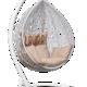 Фото №4 Подвесное кресло SEVILLA VELOUR белое