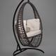 Фото №8 Подвесное кресло-кокон Derbent коричневое + каркас
