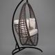 Фото №3 Подвесное кресло-кокон Derbent коричневое + каркас