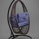 Фото №4 Подвесное кресло-кокон Derbent коричневое + каркас