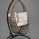 Фото №7 Подвесное кресло-кокон Derbent коричневое + каркас