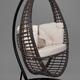 Фото №2 Подвесное кресло-кокон Derbent коричневое + каркас