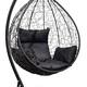 Фото №2 Подвесное кресло-кокон SEVILLA черное + каркас