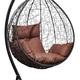 Фото №3 Подвесное кресло-кокон SEVILLA черное + каркас