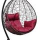 Фото №4 Подвесное кресло-кокон SEVILLA черное + каркас