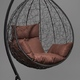 Фото №9 Подвесное кресло-кокон SEVILLA черное + каркас