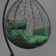 Фото №10 Подвесное кресло-кокон SEVILLA черное + каркас