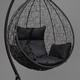 Фото №7 Подвесное кресло-кокон SEVILLA черное + каркас