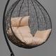 Фото №11 Подвесное кресло-кокон SEVILLA черное + каркас