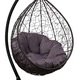 Фото №3 Подвесное кресло SEVILLA VERDE VELOUR коричневое + каркас