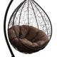 Фото №5 Подвесное кресло SEVILLA VERDE VELOUR коричневое + каркас