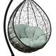 Фото №6 Подвесное кресло SEVILLA VERDE VELOUR коричневое + каркас