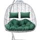 Фото №7 Подвесное кресло-кокон SEVILLA TWIN белое + каркас