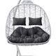 Фото №8 Подвесное кресло-кокон SEVILLA TWIN белое + каркас