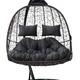 Фото №4 Подвесное кресло-кокон SEVILLA TWIN коричневое + каркас
