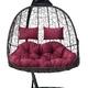 Фото №5 Подвесное кресло-кокон SEVILLA TWIN коричневое + каркас