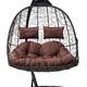 Фото №7 Подвесное кресло-кокон SEVILLA TWIN коричневое + каркас