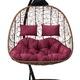 Фото №8 Подвесное кресло-кокон SEVILLA TWIN горячий шоколад + каркас