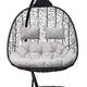 Фото №3 Подвесное кресло-кокон SEVILLA TWIN черное + каркас