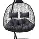 Фото №4 Подвесное кресло-кокон SEVILLA TWIN черное + каркас