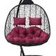 Фото №5 Подвесное кресло-кокон SEVILLA TWIN черное + каркас