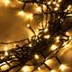Фото №10 Гирлянда занавес на ель теплый белый 0,45*1,5м IP20 200-003
