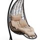 Фото №3 Подвесное кресло-кокон LUNA черное + каркас