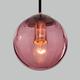 Фото №4 Подвесной светильник со стеклянным плафоном 50207/1 бордовый