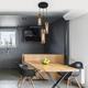 Фото №4 Подвесной светильник со стеклянными плафонами 50180/3 янтарный