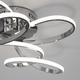Фото №7 Потолочный светодиодный светильник с пультом управления 90127/2 хром