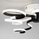 Фото №6 Потолочный светодиодный светильник с пультом управления 90149/3 белый/черный
