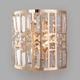 Фото №2 Настенный светильник с хрусталем 10116/2 золото/прозрачный хрусталь Strotskis