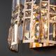 Фото №4 Настенный светильник с хрусталем 10116/2 золото/прозрачный хрусталь Strotskis