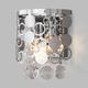 Фото №2 Настенный светильник с хрусталем 10114/2 хром/прозрачный хрусталь Strotskis