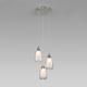 Фото №3 Подвесной светильник со стеклянными плафонами 50085/3 хром