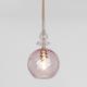 Фото №2 Подвесной светильник со стеклянным плафоном 50192/1 розовый